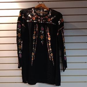 Alter'd state. Floral embroidered dress.Size small